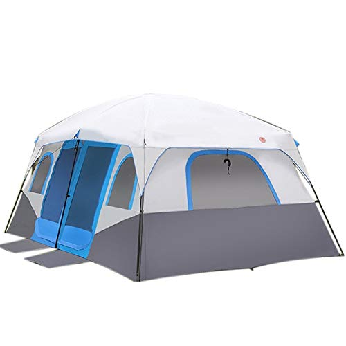 Mdsfe Large Family Camping Tents Waterproof Cabin Outdoor Tent for 8 10 12 Person Event Marquee Tents-Blue,A1