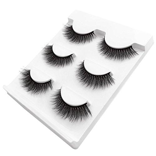 Homyl 3 Paires 3d Faux Cils Maquillage Long Epais Naturel