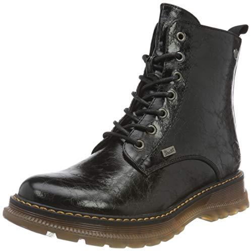 Rieker Damen 92810 Mode-Stiefel, schwarz, 41 EU