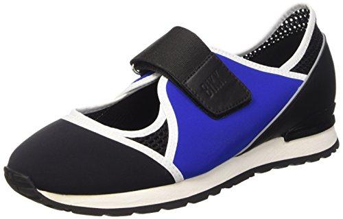 BIKKEMBERGS Damen Kate 664 L.Shoe Cut Out W Lycra/Leather Pumps, Schwarz (Blk/Blue/Black), 37 EU