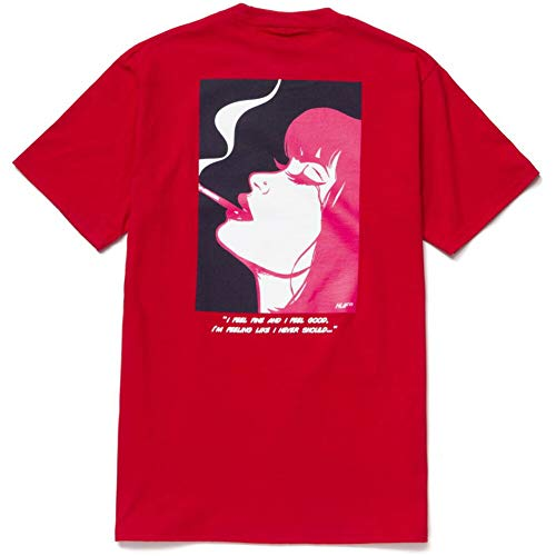 HUF(ハフ) HUF I FEELS GOOD S/S TEE [XL] RED