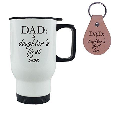 Queen54ferna Kaffeebecher mit Leder-Schlüsselanhänger, Aufschrift