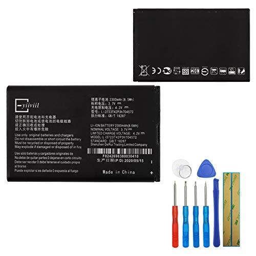 E-yiiviil Ersatzakku Li3723t42p3h704572 Kompatibel mit ZTE Falcon Z-917 MF90 MF90C MF91 2300MAH with Tools
