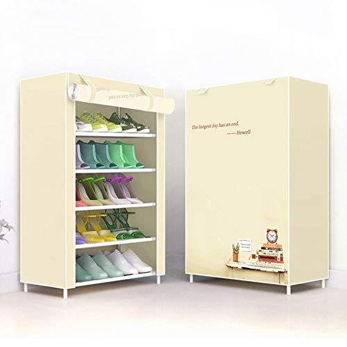 Multi-capa simple zapatero hogar ahorro de espacio a prueba de polvo artefacto zapato soporte gabinete de zapatos económico estante de almacenamiento-reloj 5L