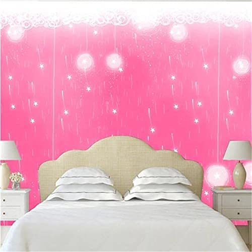 Guyuell Custom Pink Wallpapers Murals Solid Photo Wallpaper 3D Flowers for Living Room Bedroom Background Walls Home Decor Painting-400X280Cm