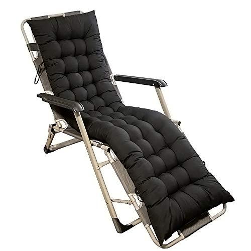Ruby Lil Patio Chair Cushion,Folding Bench Cushion for Outdoor Furniture,Lawn Chair Cushion Sofa Relaxer Dining Chair (Cushion Only),Black,48x125cm(19x49inch)