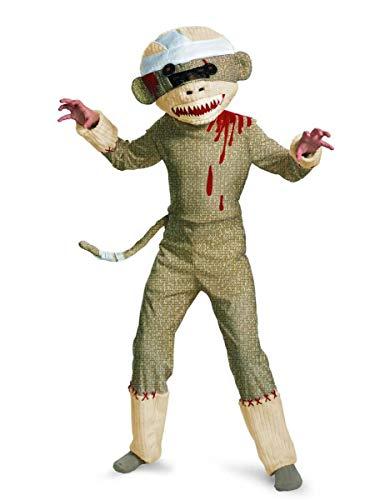 Disguise Zombie Sock Monkey Boys Costume, 7-8