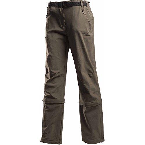 Regatta Great Outdoors Damen Xert Performance Hose, wandelbar, verschiedene Beinlängen (42 DE, langes Bein) (Khaki)