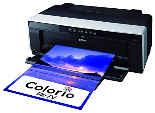 EPSON Colorio インクジェットプリンター PX-7V 有線・無線LAN標準搭載 スマートフォンプリント対応 高光沢8色顔料インク 写真愛好家向け本格派モデル