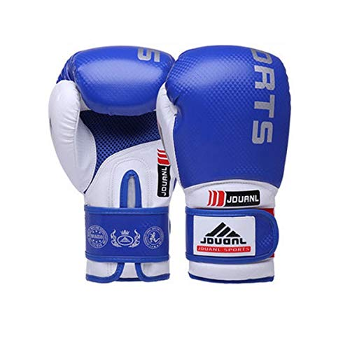 NO LOGO HMLSM Boxhandschuhe, Adult Professional Sanda Sandsack Trainingshandschuhe, Boxsets for Männer und Frauen, Blau (Krawatte senden) (Farbe : Blue, Größe : 1oz)