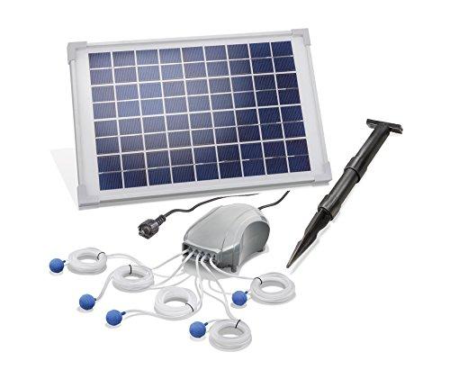 Vijverbeluchter op zonne-energie, 10 W, zonnepaneel, 5 x 120 l/h, debiet tuinvijver, pomp vijverventilatie 101887