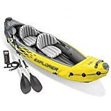 KUANDARMX Balsas Inflables para Kayak, Botes Inflables para 2 Personas con Remos De Aluminio Y Bomba De Aire De Alto Rendimiento, Kayaks De Travesía para Pesca, Rafting, Deportes Acuáticos