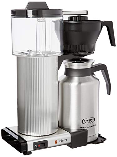 Technivorm Moccamaster CDT Grand 39340 Coffee brewer, 60 oz, Brushed Silver