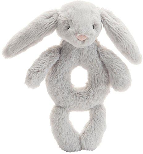 Best Bargain Jellycat Bashful Grey Bunny Soft Plush Baby Toy Ring Rattle