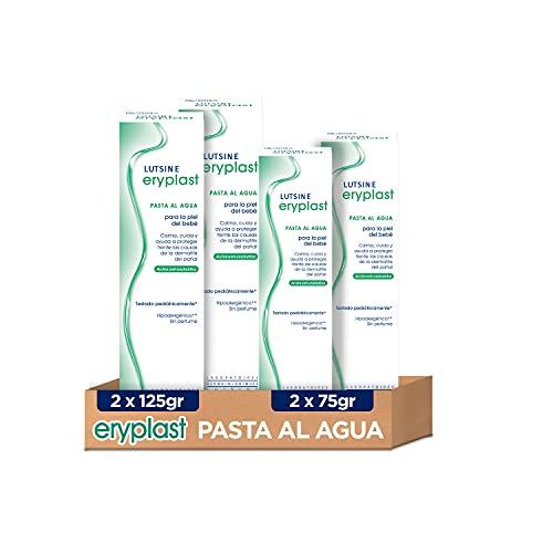 Eryplast Lutsine E45 Pasta al Agua Crema Pañal Bebé 125 gr x 2 Duplo Pack + 75 gr x 2 Duplo Pack - 4 unidades