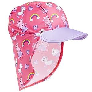 Peppa Pig Gorra de Visera para Niñas, Gorro Bebe Verano con Protector Solar UV, Sombrero Rosa para Playa Piscina con Estampados de Pepa Pig y Unicornios, Regalos para Niñas y Niños