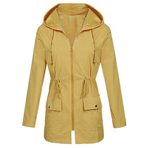 Coat Women Long Sleeve Solid Color Warm Hoodie Transition Jacket Zip Drawstring Belt Stretch Pockets Outdoor Cardigan Autumn Winter All-Match Business Casual Sport Top 4XL