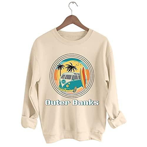 Alueeu Mujer Casual Sudaderas sin Capucha Manga Larga Jersey Suéter Redondo Outwear Pullover Ropa Adolescentes Chicas Otoño Invierno
