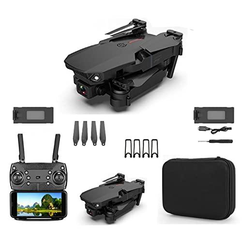 SWETIY Drone E88 PRO, Controllo dei Gesti, Volo Circolare, modalità Hover per I Principianti, WiFi Video Diretta FPV Droni Telecomandati per Principianti, Nero 2 Batterie