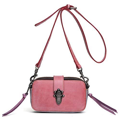 CuteLife Ladies handbag Ladies Messenger Satchel Purse Women Crossbody Bags Vintage For Work Shoulder Casual Bag With 2 Shoulder Straps women's shoulder bag (Color : B, Size : 19x6x10cm)