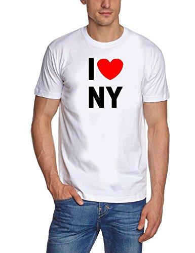 Coole-Fun-T-Shirts I Love NY Weiss - T-Shirt, GR.XL