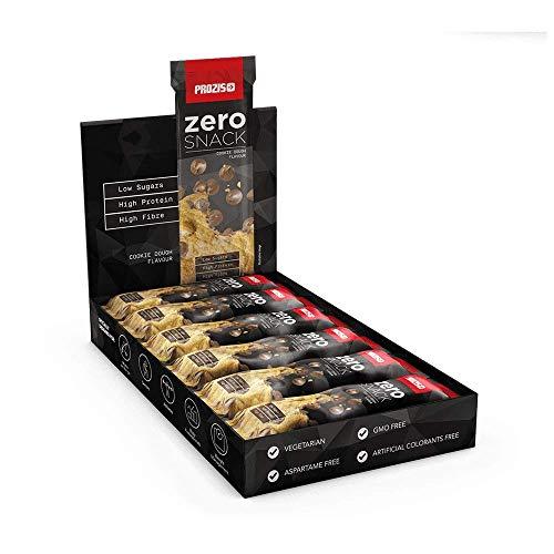 Prozis Zero Snack - Barra rico en proteína y Bajo en Hidratos de Carbono y Azúcares, Masa para Galletas con Trozos de Chocolate - 12x35g