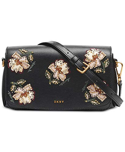 DKNY Paige Floral Leather Flap Crossbody