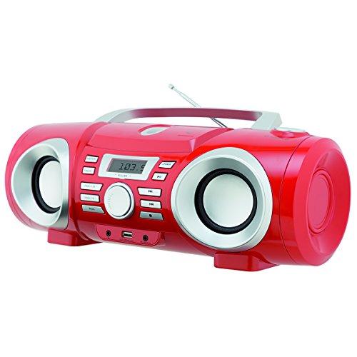 Boombox, PB130V com entrada USB e MP3, 10W RMS, Bivolt, Vermelho, Philco