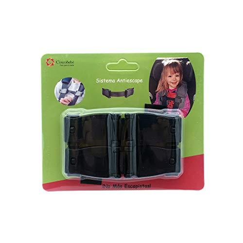 Cincobebé Sistema Antiescape,Dispositivo de Bloqueo para Asientos de Coche para Niños,Evita que el niño saque los brazos del arnés,Pack de 2