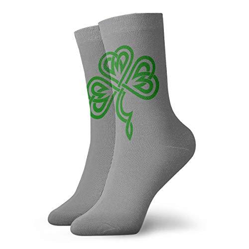 Rish Celtic Shamrock Socks Men's Women's Athletic Soccer Dress Socks Funky Crew Socks