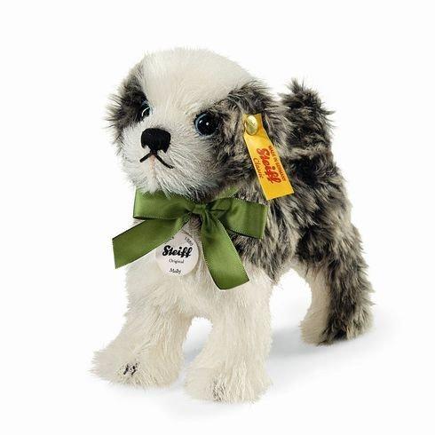 Steiff Molly Dog ,Dark Grey/White, 5.5
