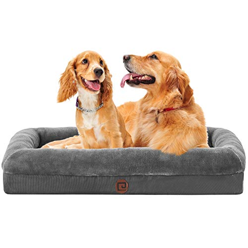 """Eheyciga Orthopedic Dog Bed Large- Memory Foam Couch Dog Sofa with Removable Washable Cover& Nonskid Bottom, 36""""x27"""""""