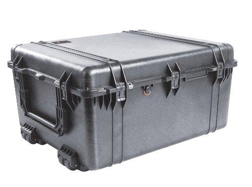PELI 1690 conteneur de transport lourd , IP67 étanche à l'eau et à la poussière, capacité de 191L, fabriqué aux États-Unis, sans mousse, noir