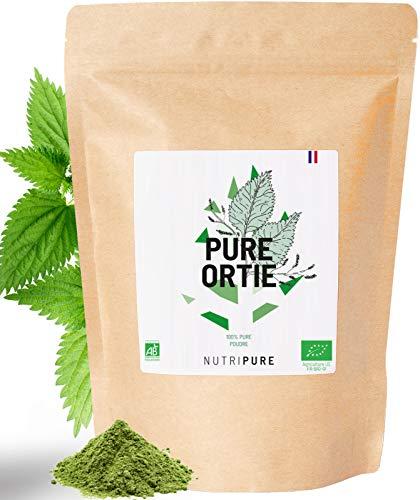 Feuilles d'ortie bio en poudre • Riche en oligo éléments et en minéraux • Favorise la circulation veineuse et le bien être circulatoire • Aide à se sentir plus énergique • Sachet de 150G • NUTRIPURE