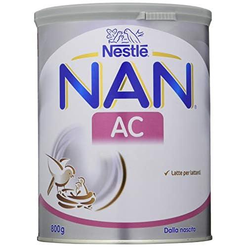 Nestlé NAN AC Latte per Lattanti in Polvere dalla Nascita al Sesto Mese, Latta 800 g