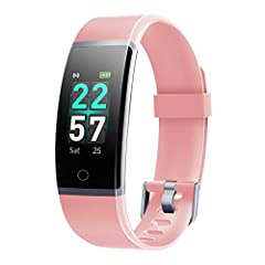 """[Stylish and Comfortable]: 0.96"""" screen brings you a great visual experience. Curved screen with four dial plates gives you a stylish look. Lightweight design with soft and skin-friendly bands enables comfortable wearing. [Intelligent Activity Tracke..."""