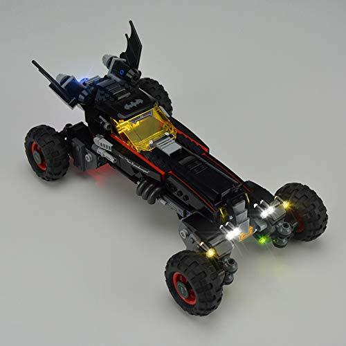 iCUANUTY Kit de Iluminación LED para Lego 70905, Kit de Luces Compatible con Lego Batman Movie Batmovil (No Incluye Modelo Lego)