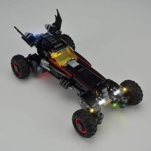 iCUANUTY Kit de Iluminación LED para Lego 70905, Kit de Luces Compatible con Lego Batman Movie Batmovil (No Incluye Modelo Lego)