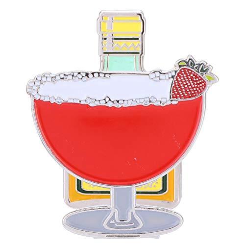 BYARSS GOL, f Marcador de Clip-Acero Inoxidable Duradero GOL, f Clip para Sombrero con Marcador de Bola magnética Desmontable(Copa de Vino de Fresa)