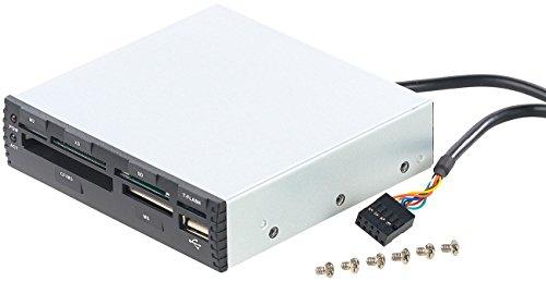 Xystec Dakota del Sur Lector de Tarjetas internamente: Lector de Tarjetas Interno de 3,5 CR-560i con USB 2.0 Frontal, Negro (Lector de Tarjetas internamente)