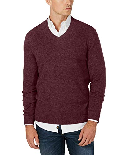 Club Room Mens Cashmere Knit Sweater, Red, XXX-Large