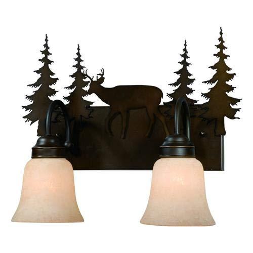 Patriot Lighting Deer Burnished Bronze 2-Light Vanity Light