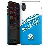 DeinDesign Coque Compatible avec Apple iPhone XS Max Coque renforcée Coque Antichoc Produit sous Licence Officielle Om Allez l'OM Olympique de Marseille