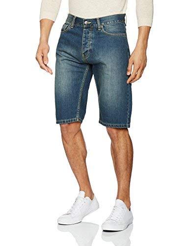 Dickies Michigan Short Pantalones Cortos Deportivos, Azul (Antique Wash AW), (Tamaño del Fabricante:33) para Hombre