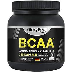 Aminoácidos esenciales BCAA. 330 cápsulas