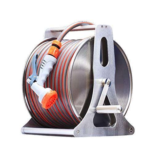 RKY Tubo for innaffiare, Automatico Retrattore Set Telaio, delle Famiglie agricole in Acciaio Inox innaffiamento di Fiori Car Wash Tubo Rack di stoccaggio Tipo d'attaccatura /-/