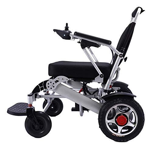 Werfft Opvouwbare elektrische rolstoel, lichtgewicht 50 lbs met batterijen, heavy duty ondersteunt 360 lbs vliegtuig-graden-aluminiumlegering, 12 inch Rigid rubberen bandenwiel