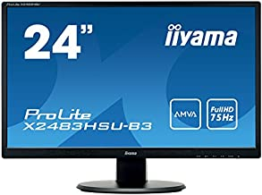 Iiyama 24 LED LCD 1920x1080 250cd/m, AMVA panel, X2483HSU-B3 (250cd/m, AMVA panel 4ms, VGA/HDMI/DVI)