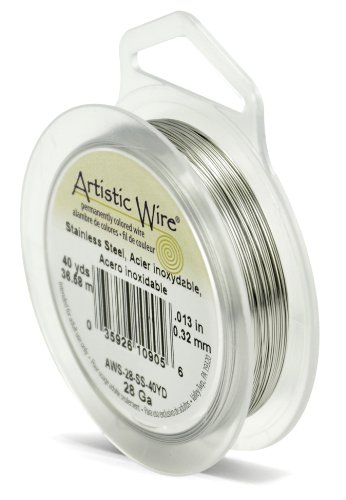 :  Artistic Wire 28 Gauge, Stainless Steel, 40 Yard