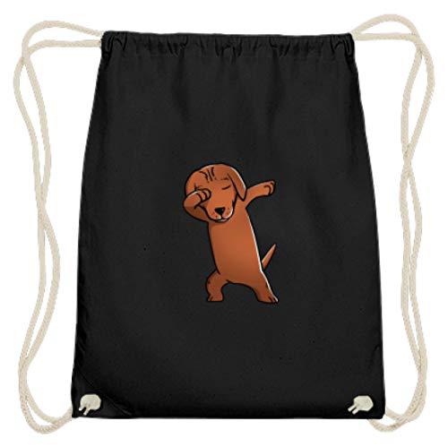 Dabbing Dabbin jachthond hond ras lief eraf - eenvoudig en grappig design - katoen gymsac